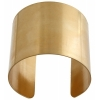 Brass Cuff Bracelets Flat Band 2in Wide - pack of 2